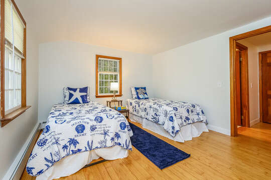 Bedroom #4 - Two twin bed -2 Cove Road Harwich Cape Cod - New England Vacation Rentals