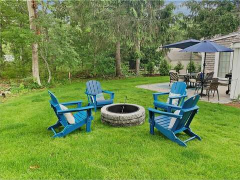 Great back yard and patio - 2 Cove Road Harwich Cape Cod - New England Vacation Rentals