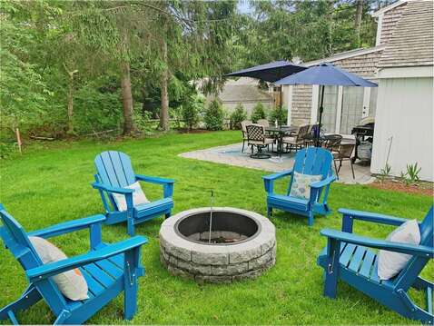 Gather around the fire pit at - 2 Cove Road Harwich Cape Cod - New England Vacation Rentals