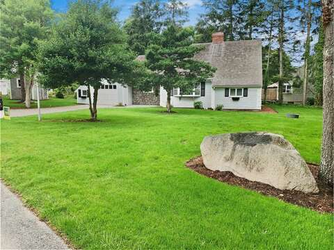 Large front and side yard for kids games at-2 Cove Road Harwich Cape Cod - New England Vacation Rentals