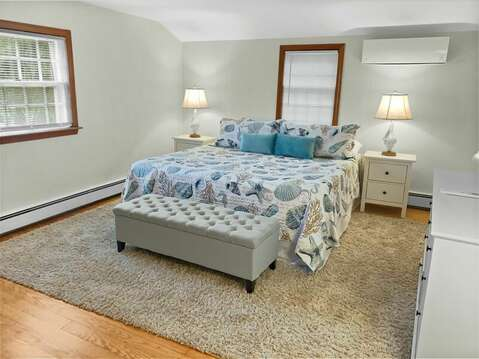 Bedroom #3 - Upper Level King Master - 2 Cove Road Harwich Cape Cod - New England Vacation Rentals