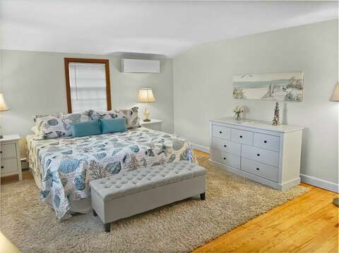 Bedroom #3 - King Bed with Mini Split A/C unit - 2 Cove Road Harwich Cape Cod - New England Vacation Rentals