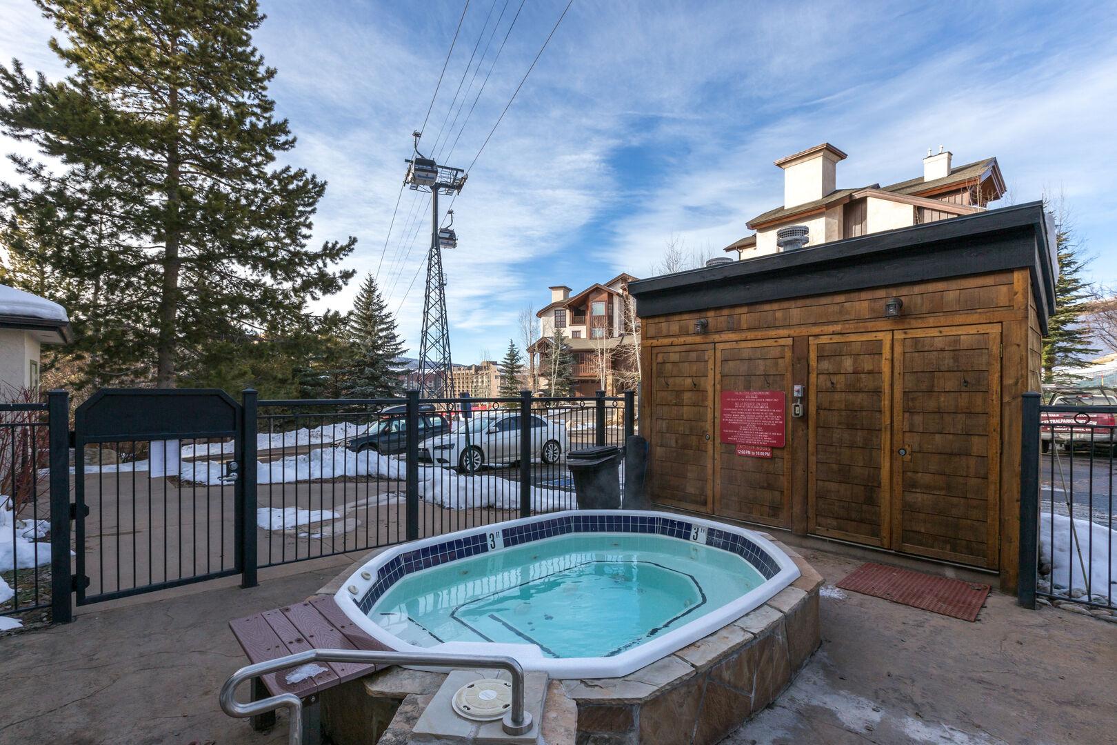 Hot tub! It is open!