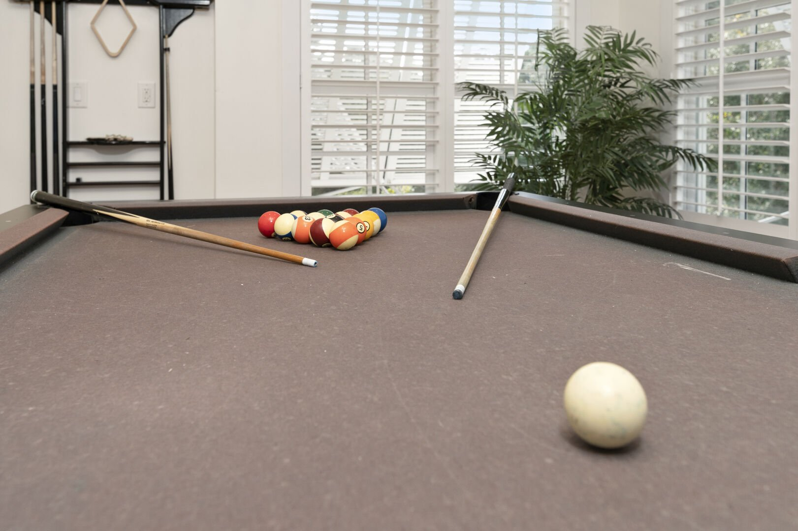Pool Table in Game Room - Second Floor