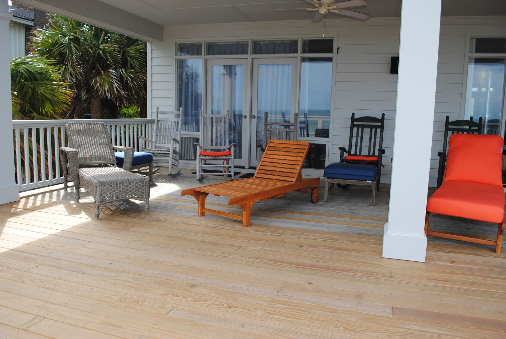 Covered Porch and Sun Deck