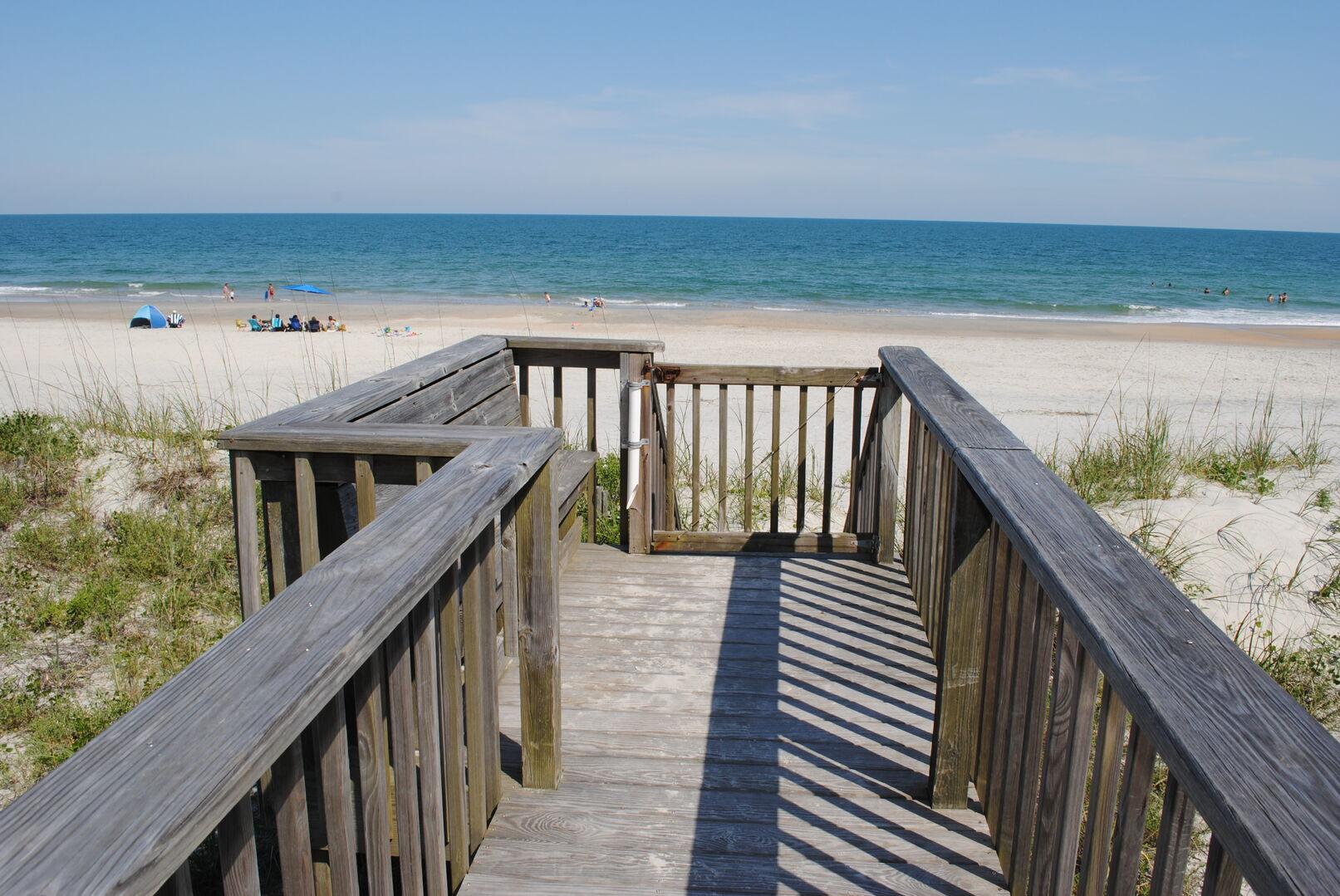 Ocean View from Beach Walkway