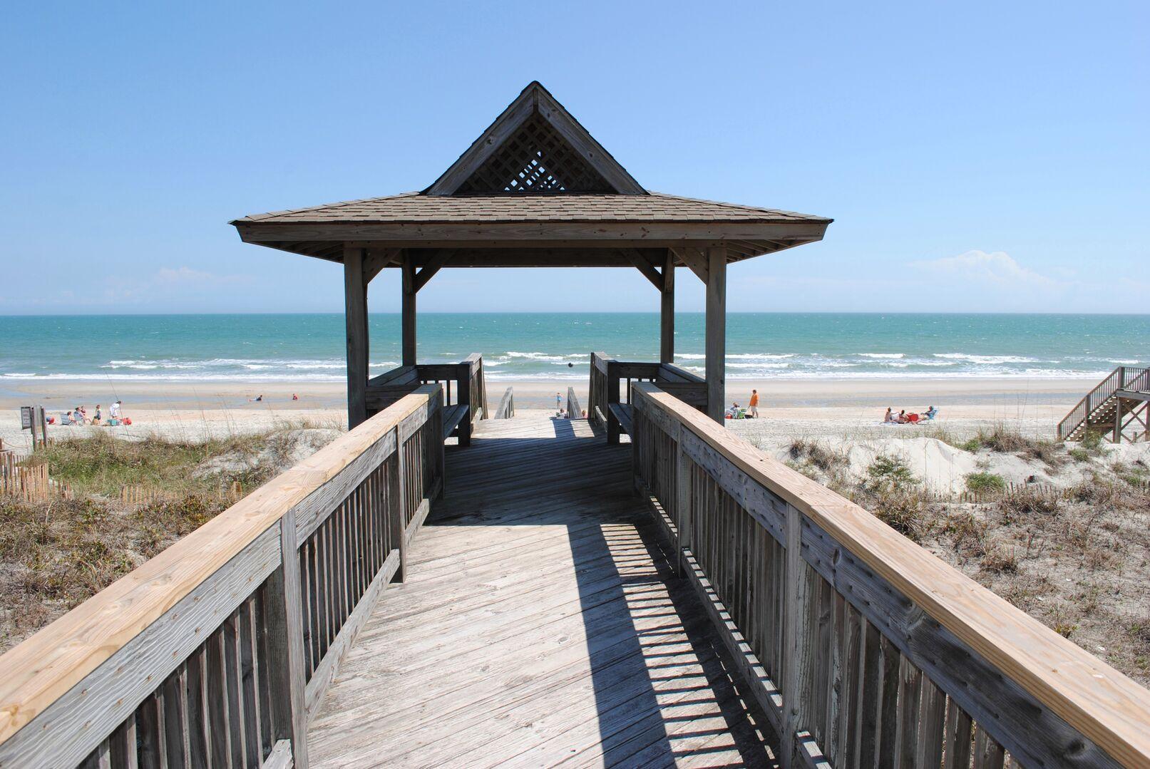 Gazebo on Beach Walkway