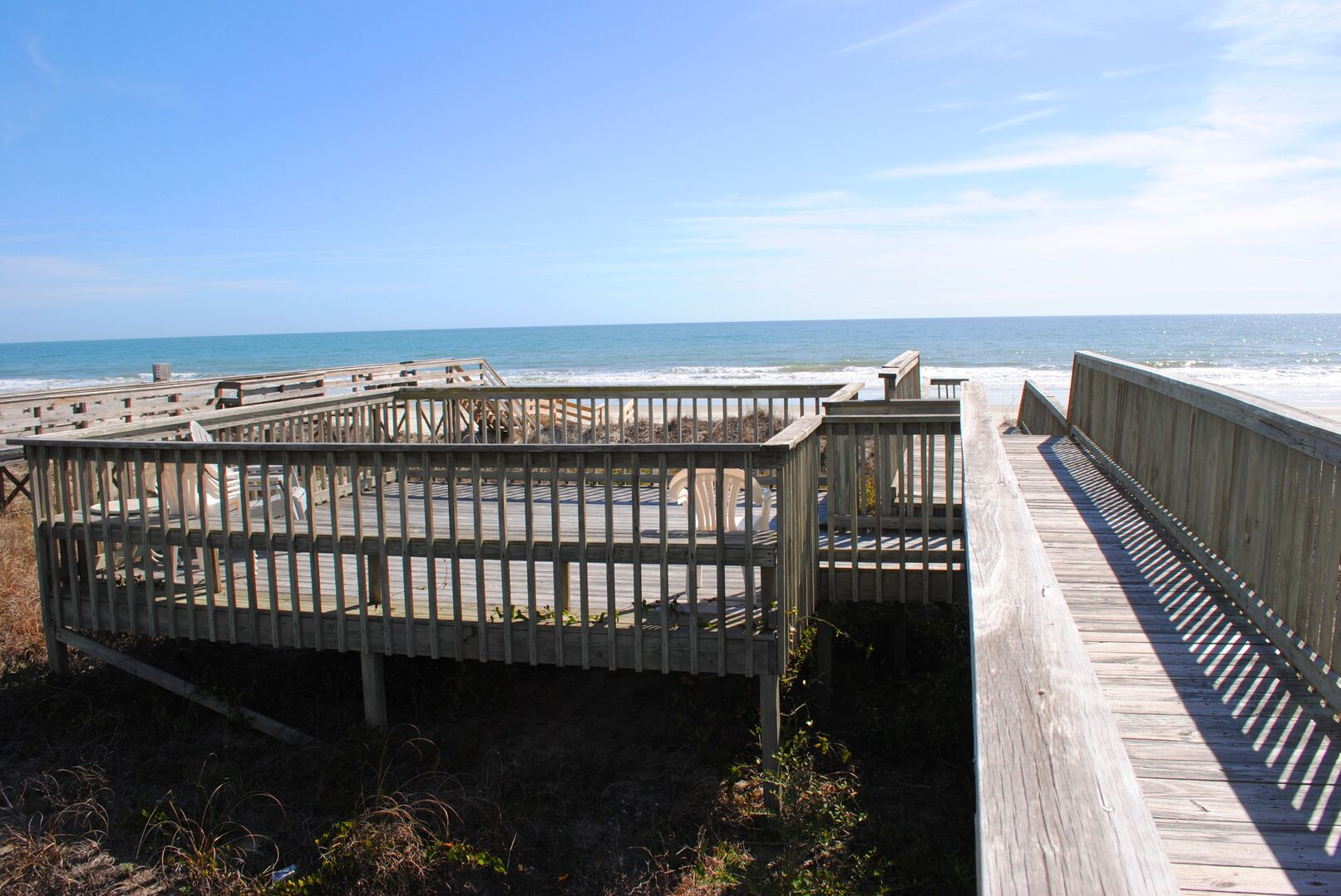 Private Walkway to Beach with Sun Deck