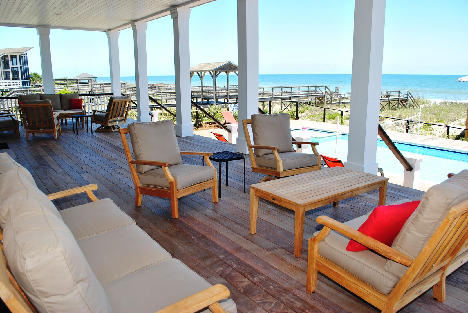 Oceanfront Covered Porch