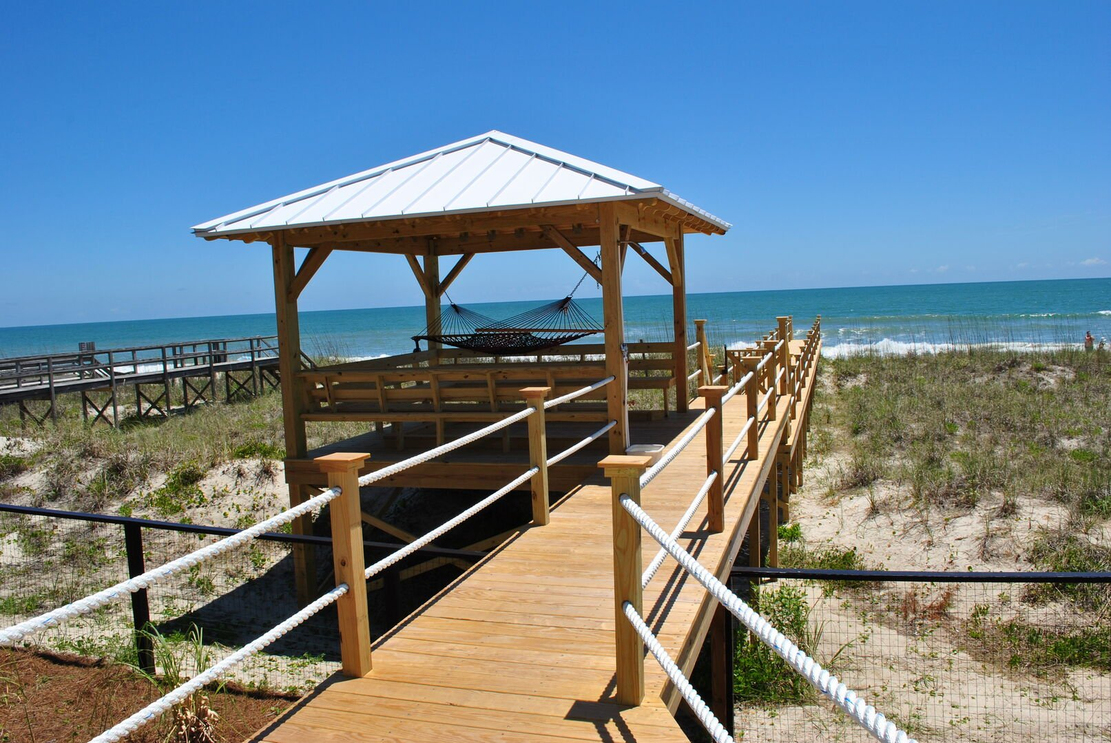 Private Walkway to the Beach with Gazebo