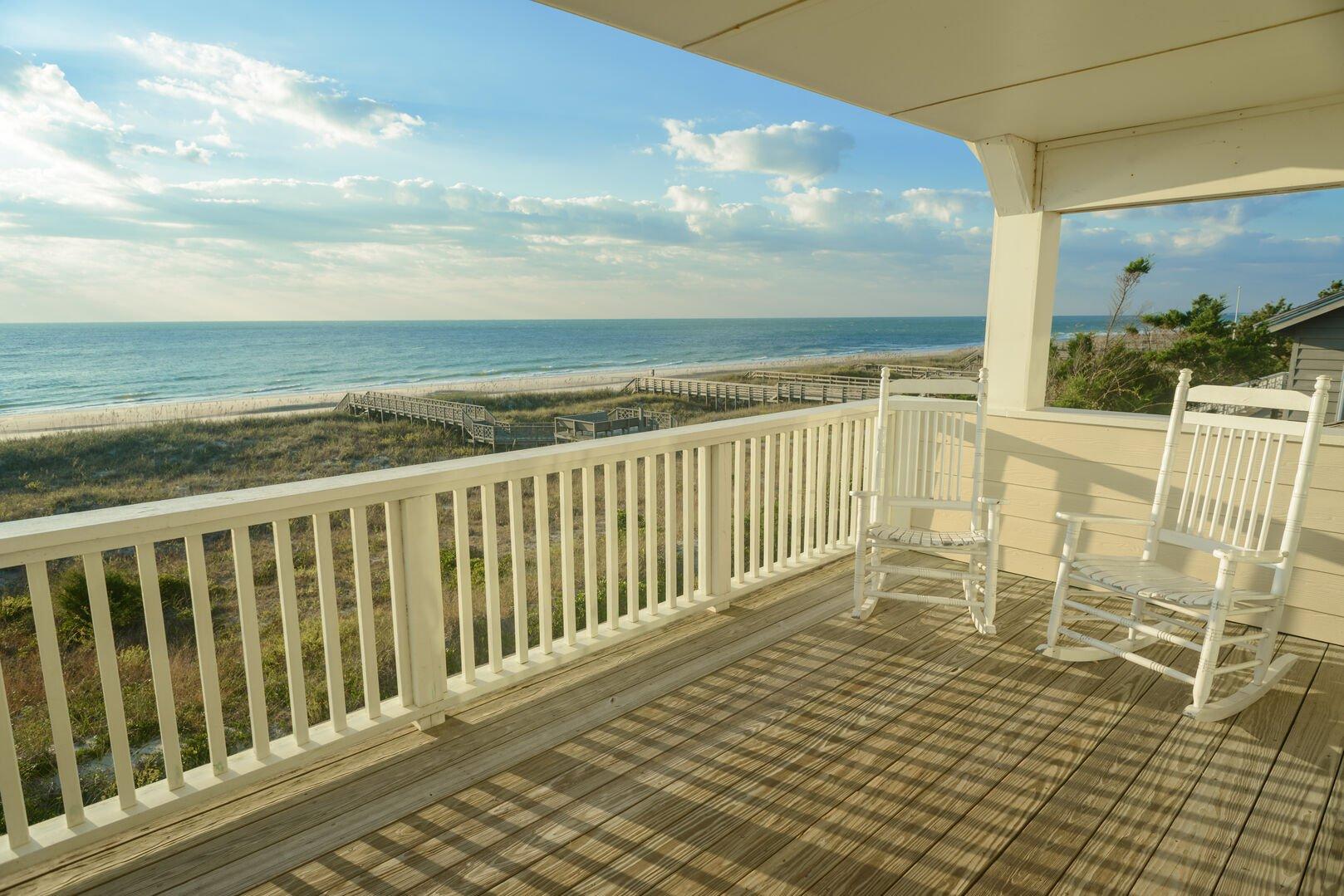 Oceanfront Porch - Second Floor