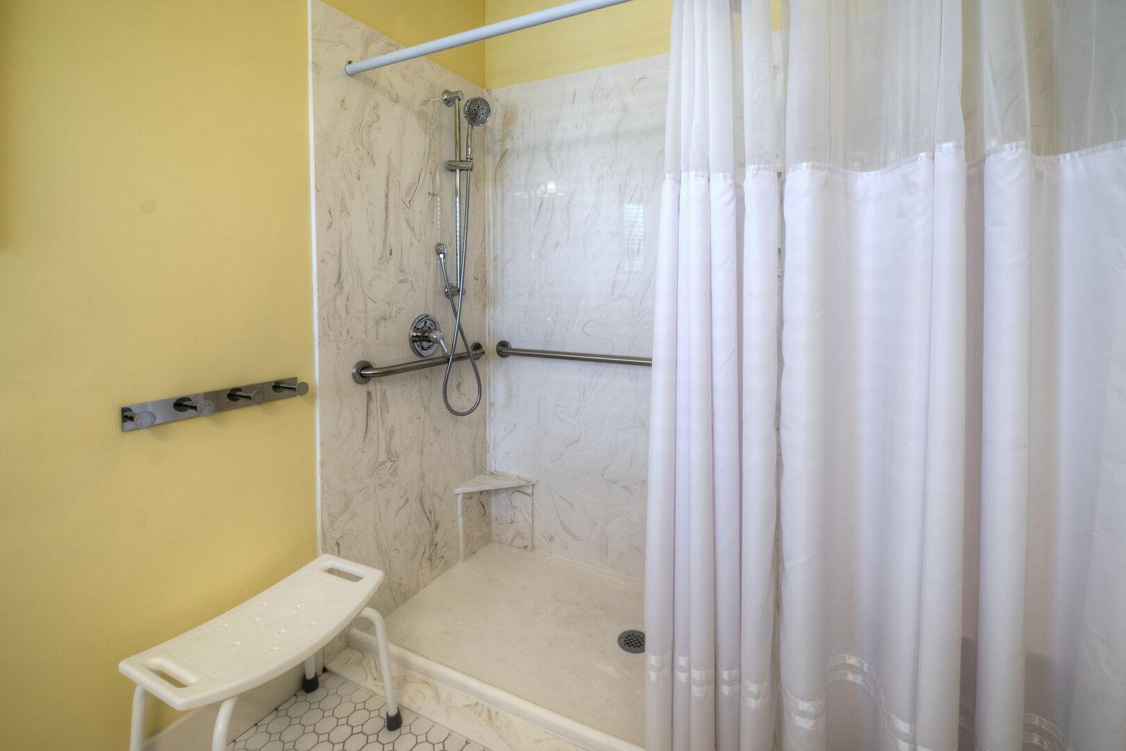 Handicap Accessible King Bathroom - Second Floor
