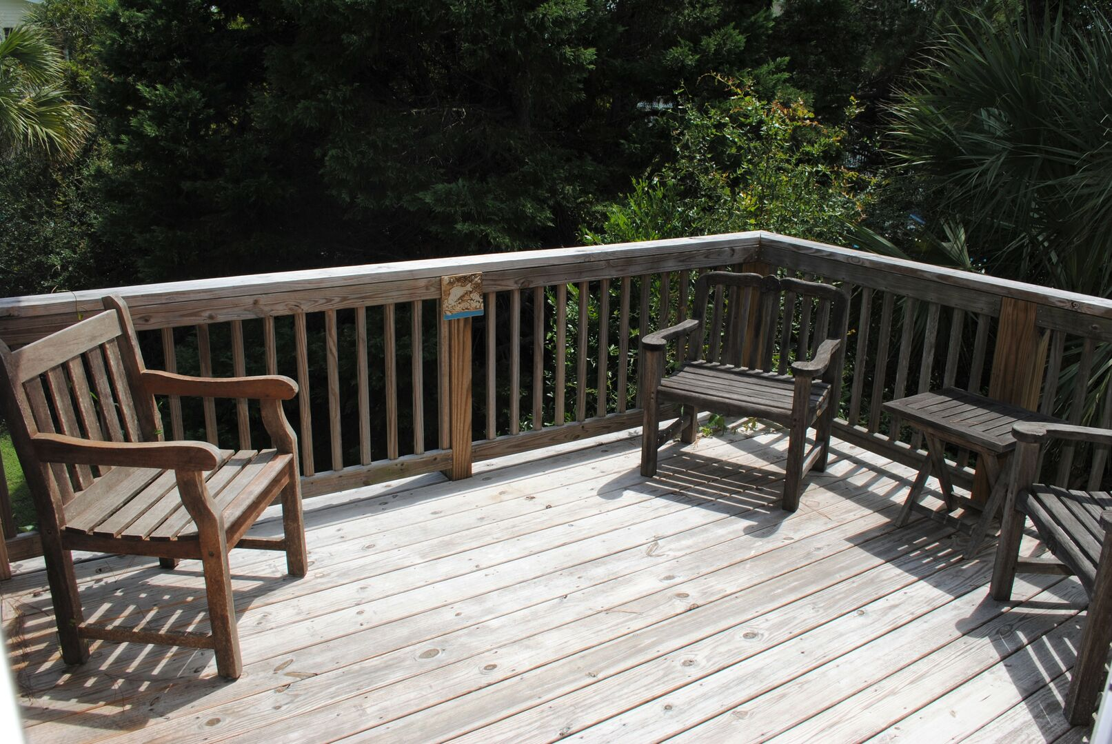 Sun Deck Accessible by King Bedroom and Screened Porch