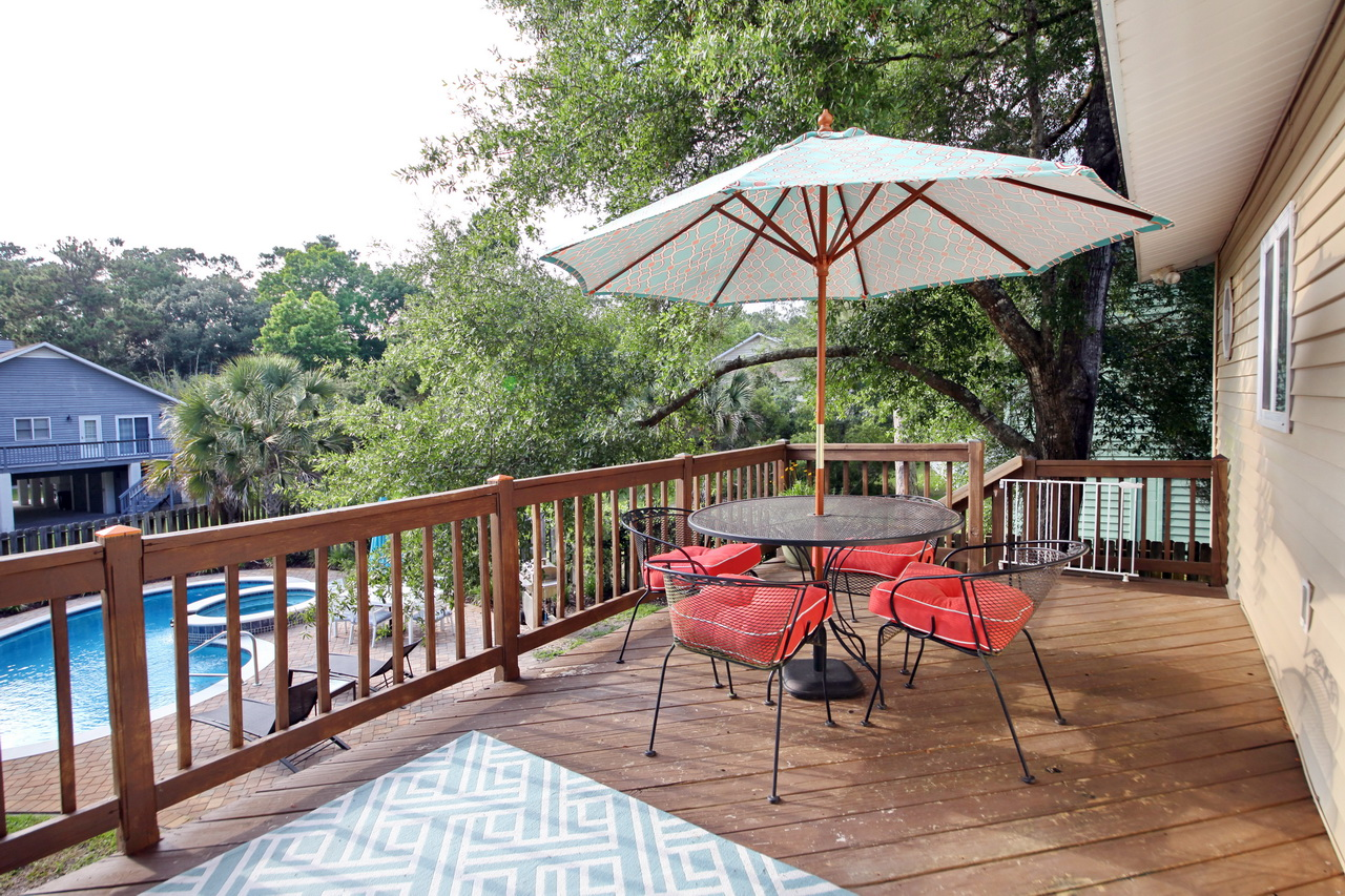Sun Deck Overlooking Private Swimming Pool