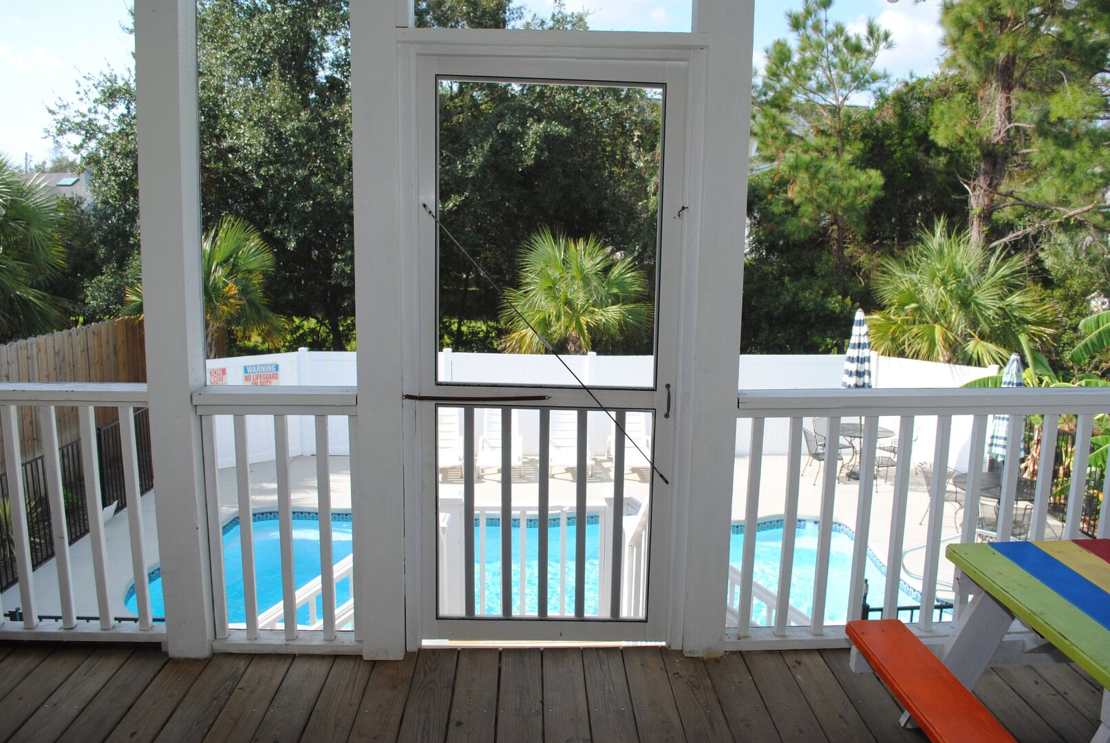 Screened Porch Overlooking Pool