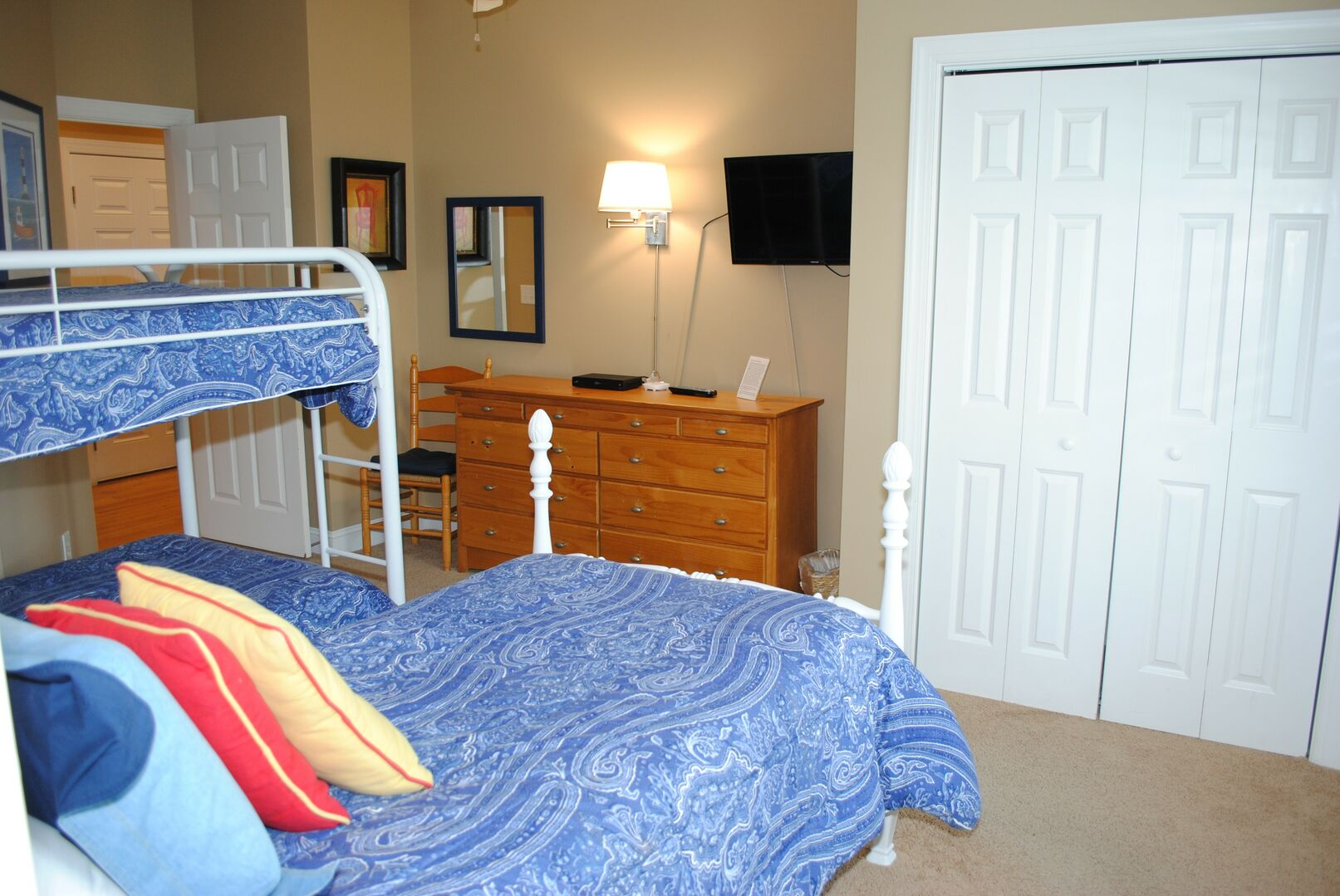 Twin and Bunk Bed - First Floor