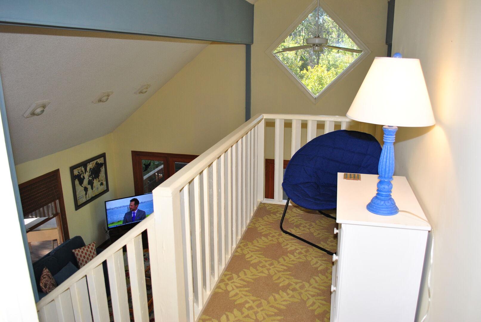 Loft Overlooking Living Area - Second Floor