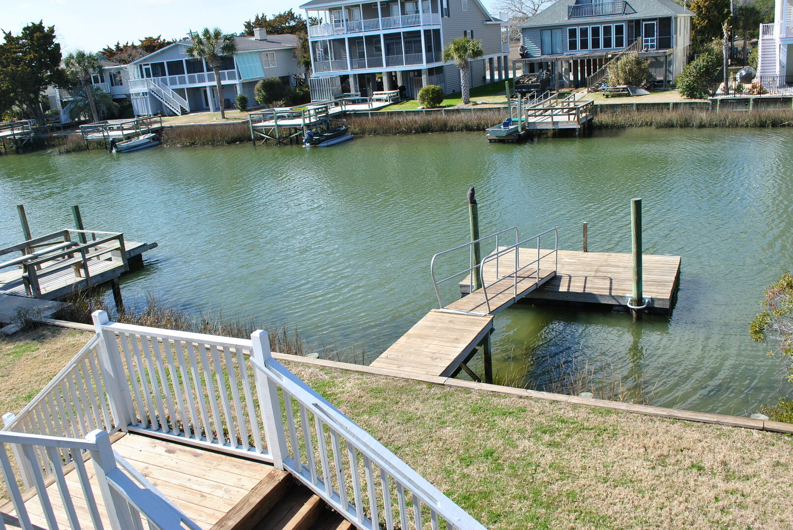 Floating Dock on the Canal