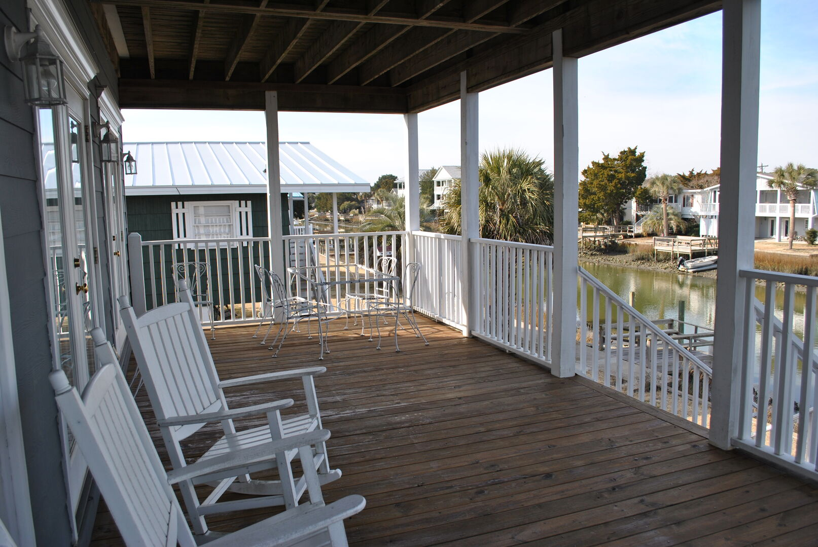 Covered Porch on Canal Side