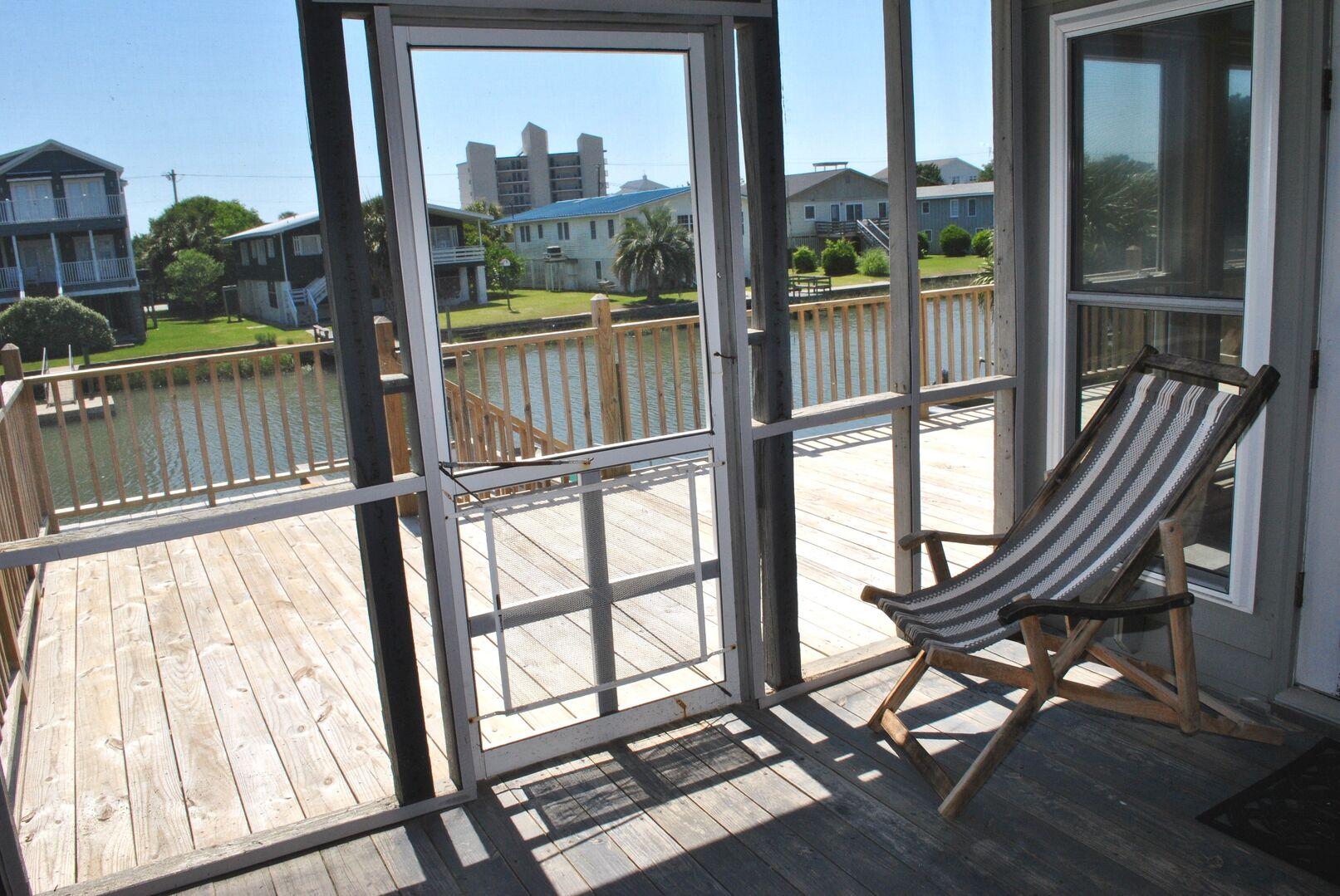 Screened Porch - Fulls Bedroom