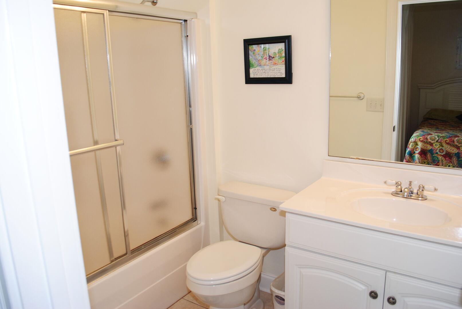 Queen and Full Bathroom - First Floor