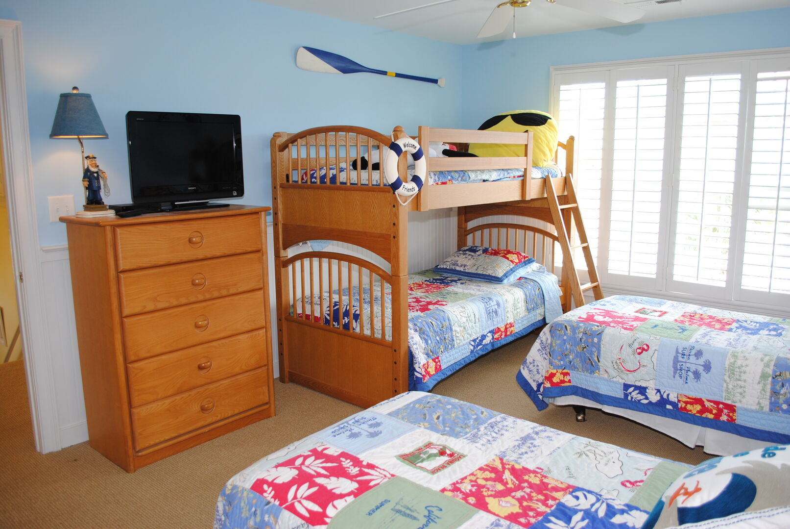 2 Twins and Bunk Bed - Second Floor