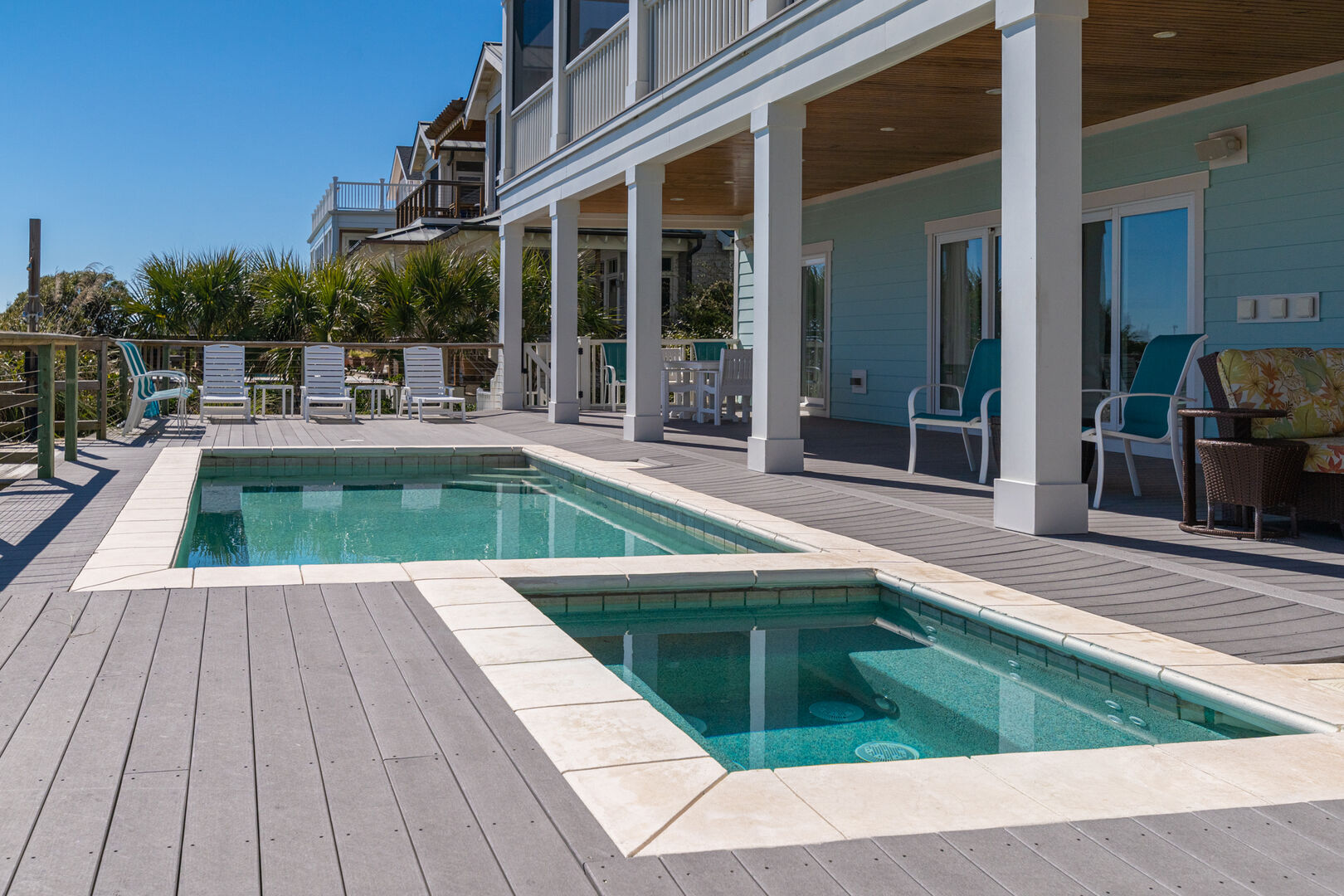 Private Salt Water Swimming Pool and Spa
