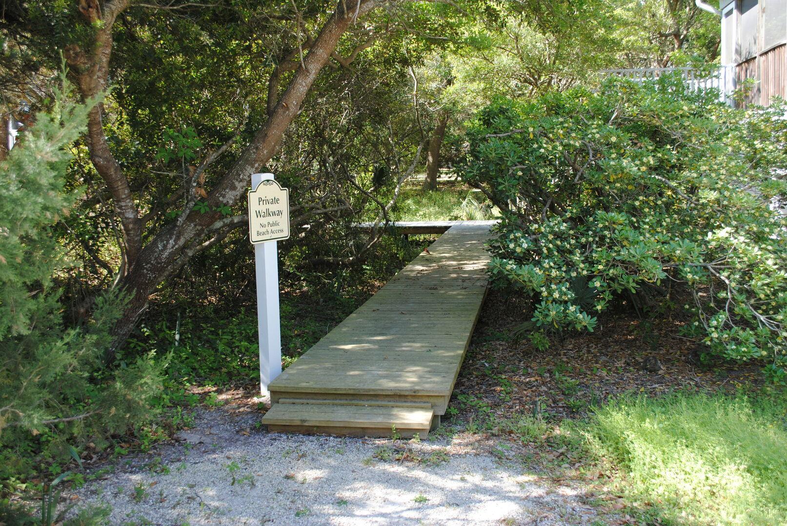Private Walkway to Beach (Shared)