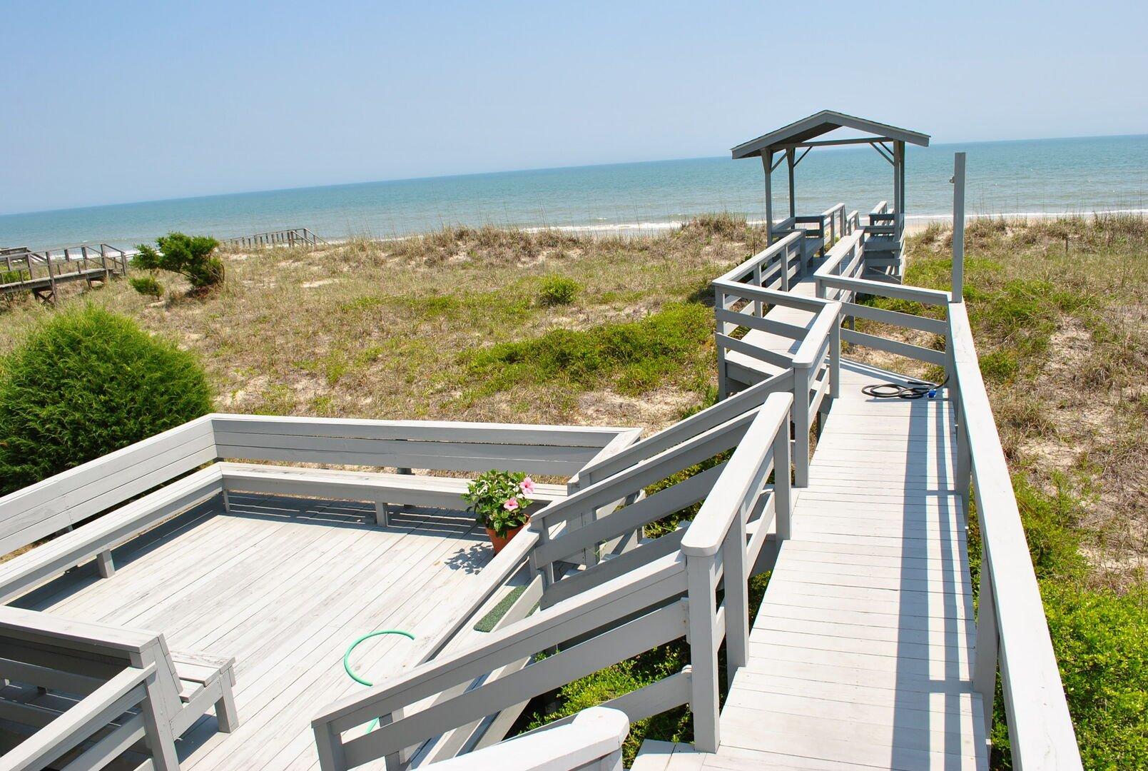 Sun Deck and Private Beach Walkway