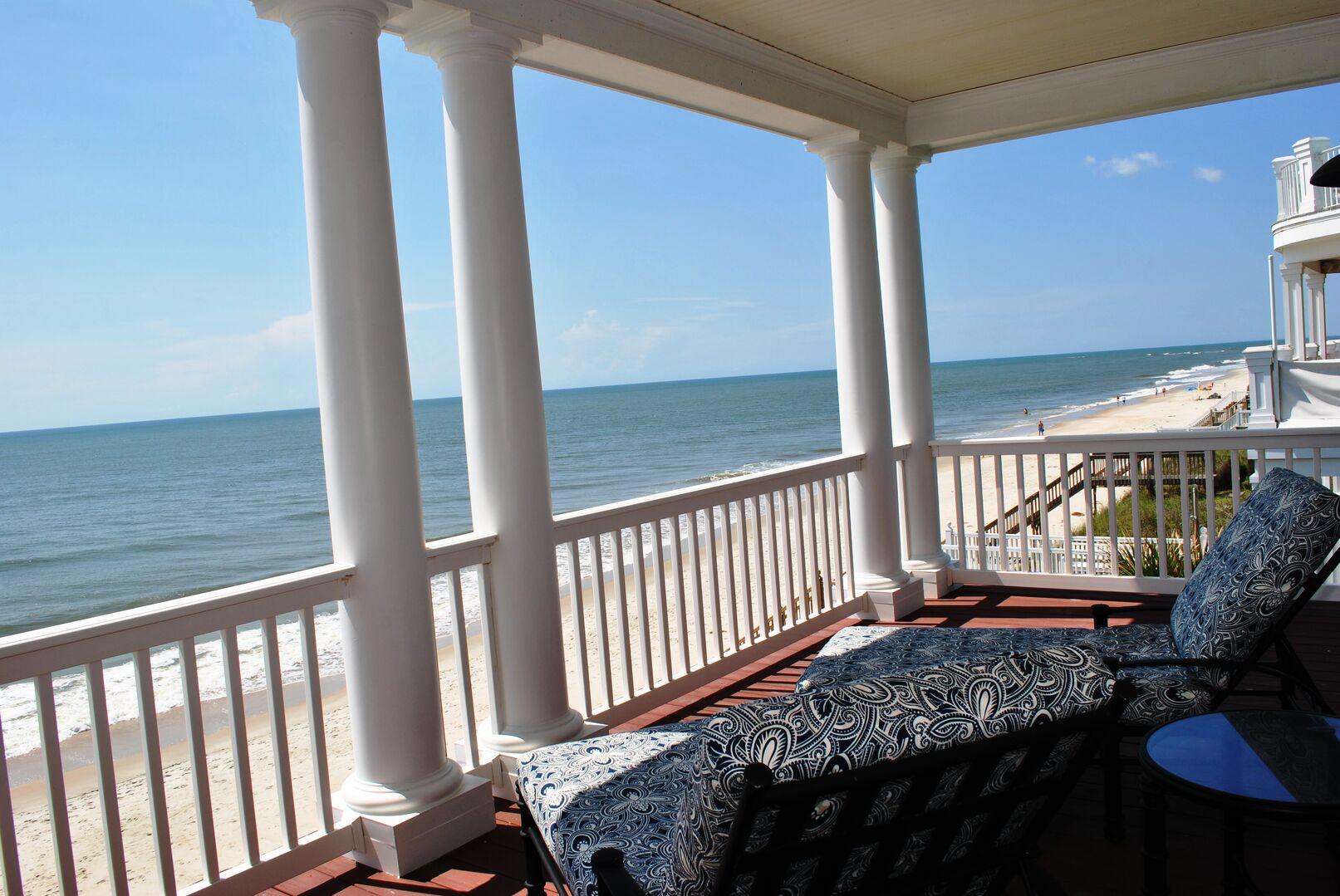 Oceanfront Porch from King Bedroom - Second Floor