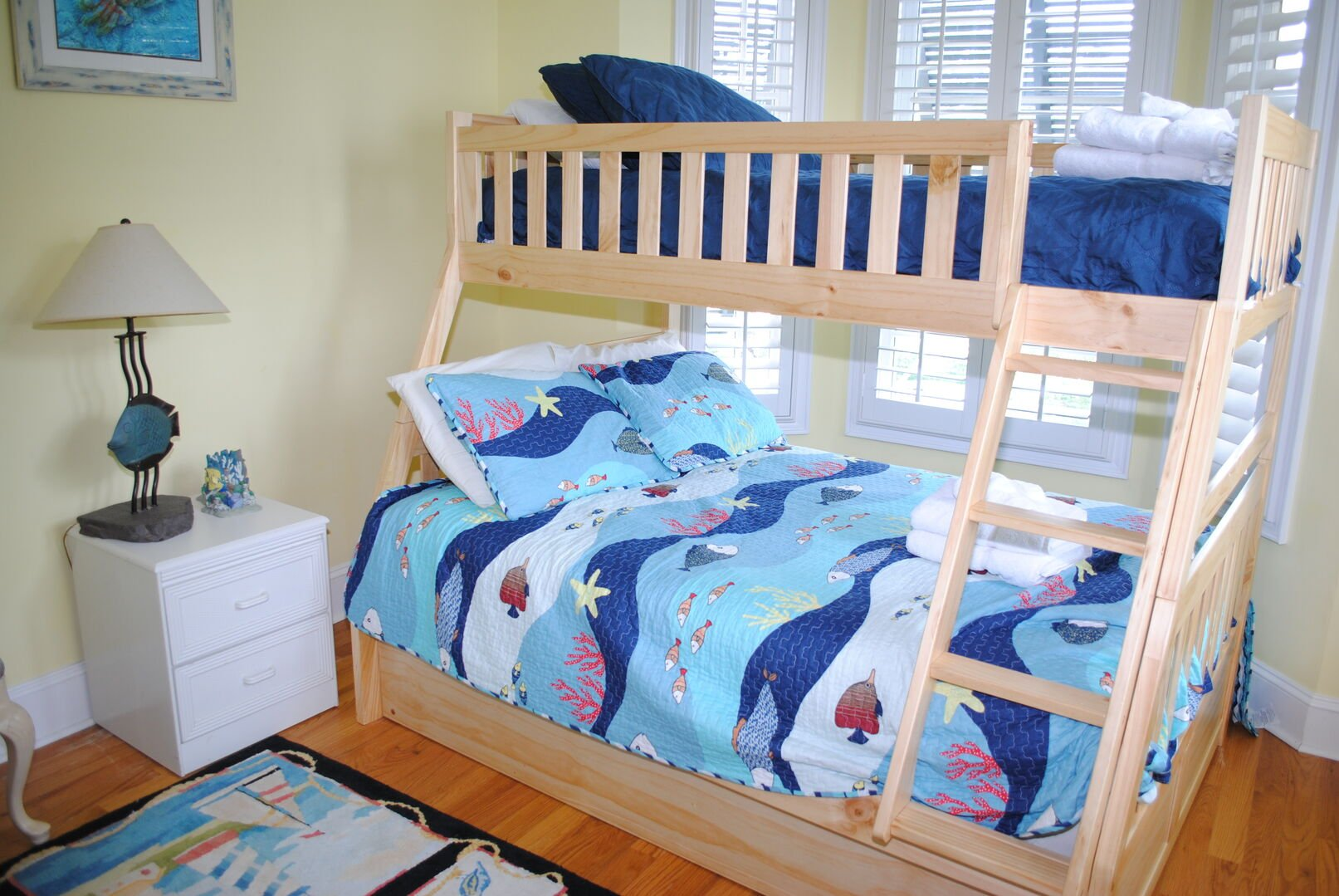 Bunk Bed (Full on Bottom, Twin on Top) - First Floor