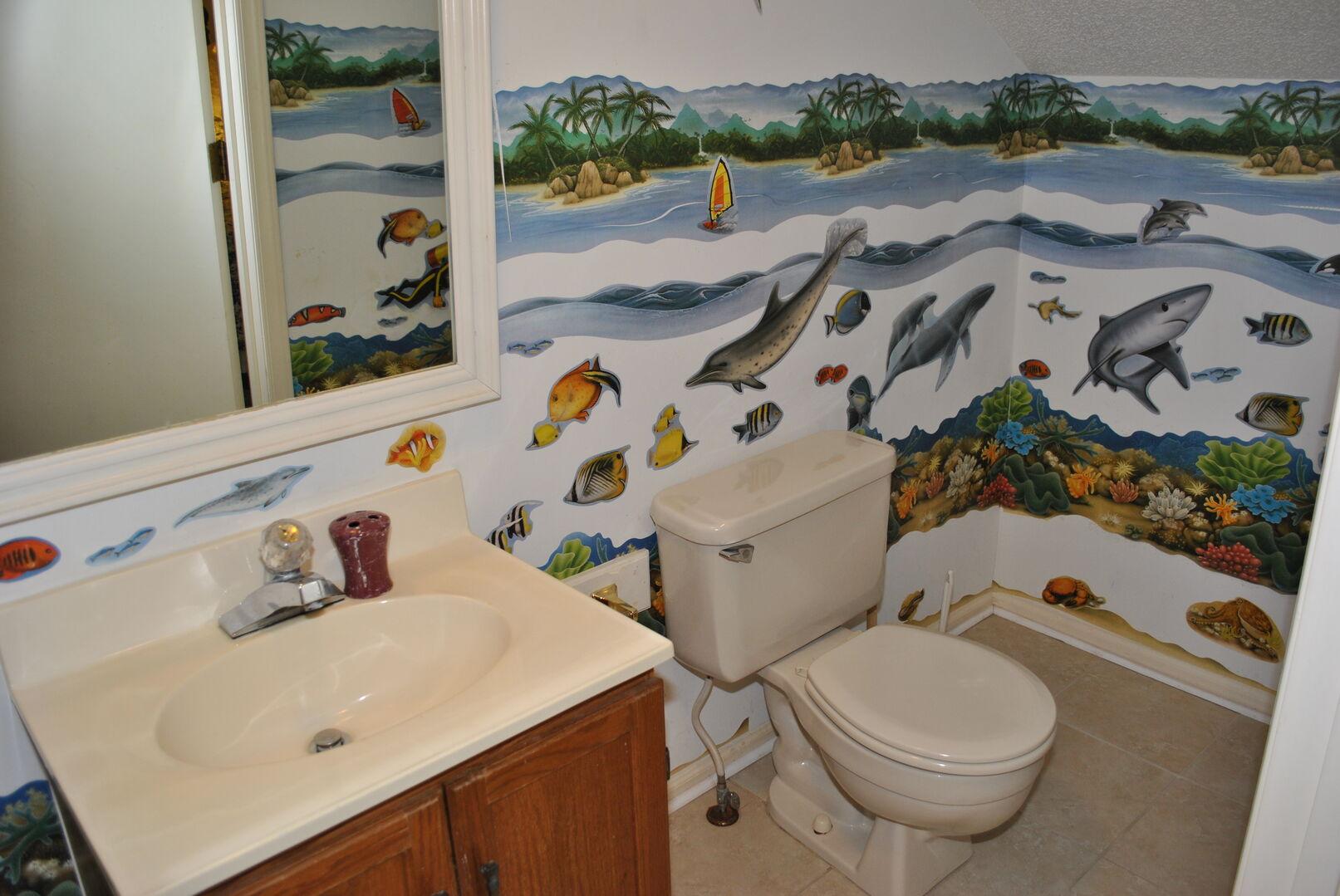 Half Bathroom - Second Floor