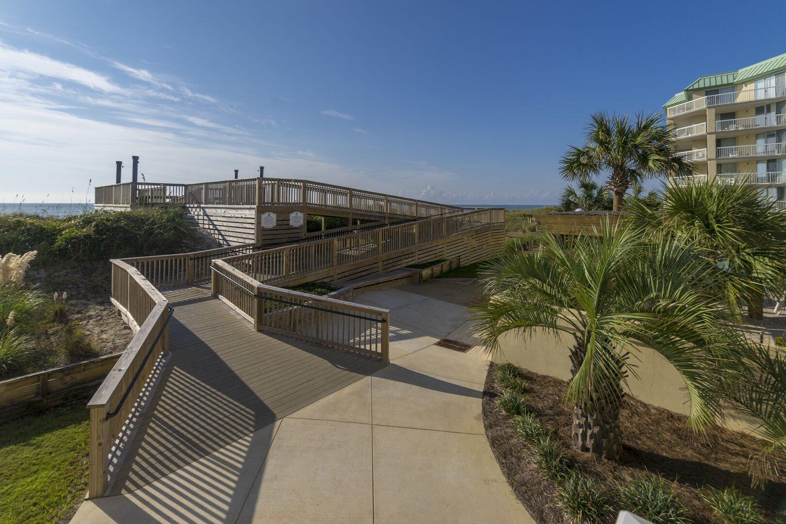 Handicap Accessible Beach Walkway