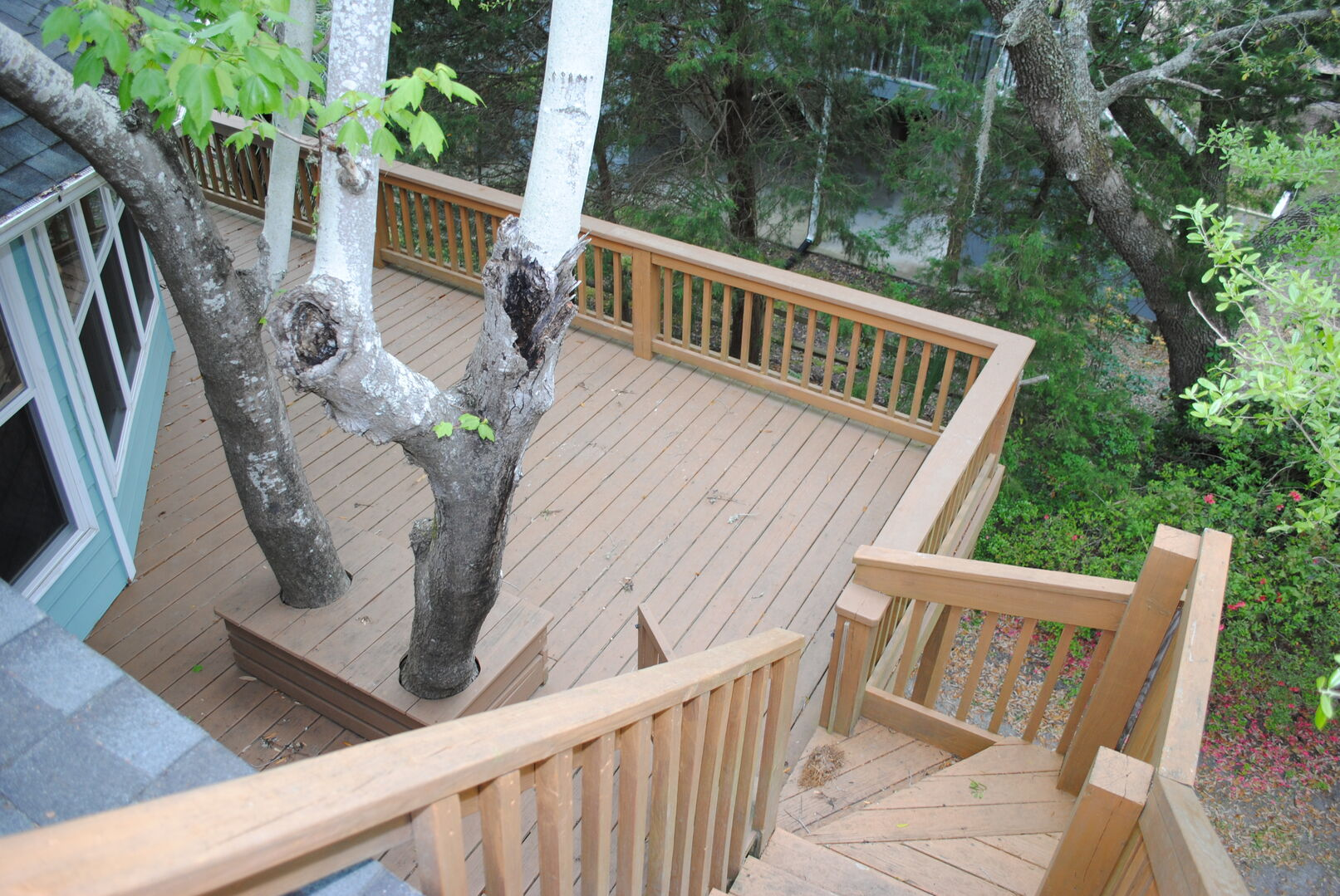 Sun Deck - First Floor (View from top of stairs)