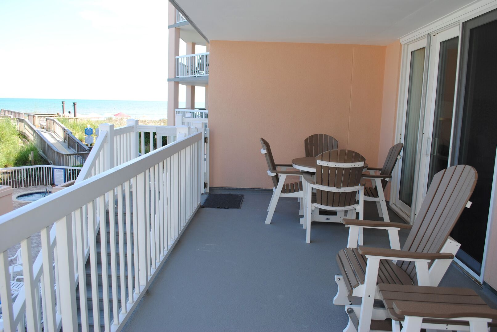 Oceanfront Balcony with Private Stairs from Balcony
