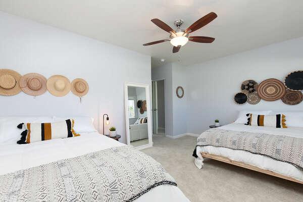 Guest Bedroom, 2 Full Bed - First Floor