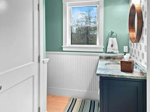 Half bath with Laundry room -31 Pine Rd West Dennis- Cape Cod- New England Vacation Rentals