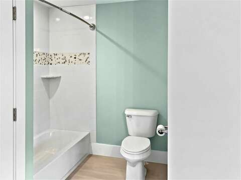 Bathroom #2 with tub shower combo ensuite to Bedroom #1 31 Pine Rd West Dennis- Cape Cod- New England Vacation Rentals