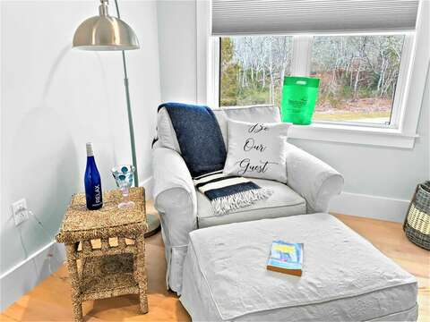 Bedroom #4 sitting area to curl up with your favorite book-31 Pine Rd West Dennis- Cape Cod- New England Vacation Rentals
