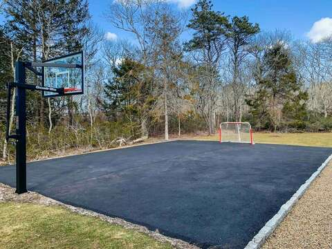 Practice your hoops at the outdoor basket ball court-31 Pine Rd West Dennis- Cape Cod- New England Vacation Rentals