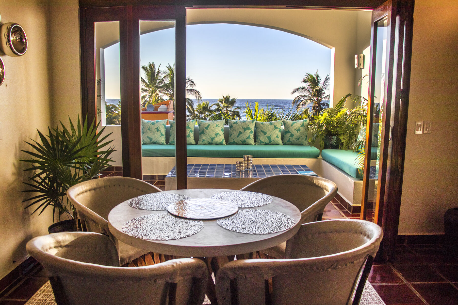 Your private dining room and Amazing Outdoor seating area with inviting ocean views