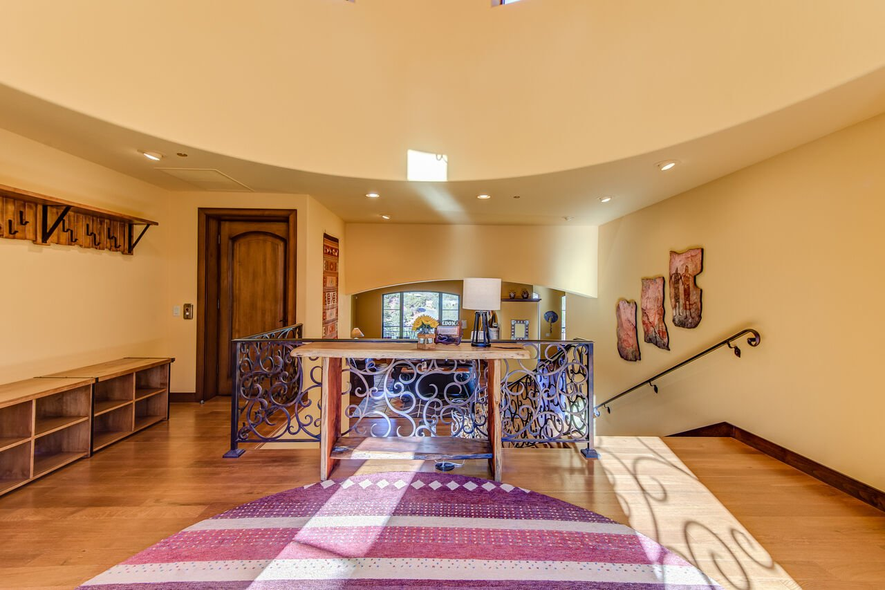 Grand Entry on Top Level with Custom Designed Coat Rack and Cubbies