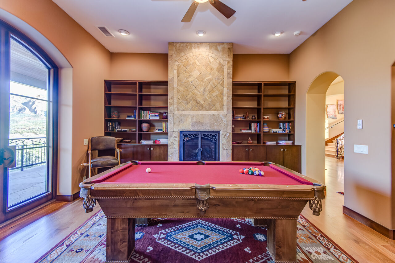 Main Level Billiards Room Accessible From the Living Room