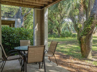 Dine or play games outside if you like with a view of the golf course.
