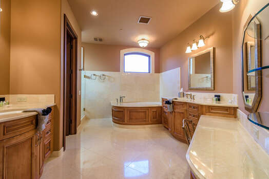 Grand Master Bath with Soaking Tub and Shower