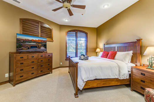 Lower Level Master Bedroom 2 with a King Bed, 55