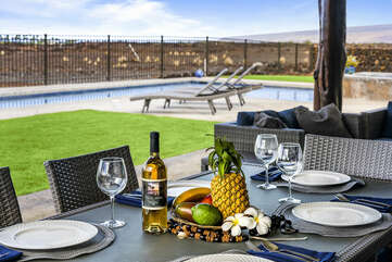 Your private lanai provides a great dinner location!