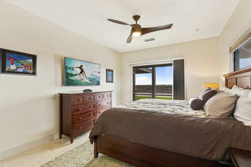 Master bedroom with King bed and lanai access