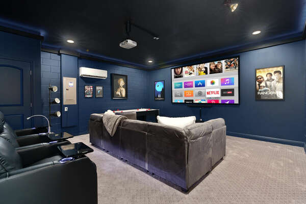 Have a family movie night in the in-home movie theater!