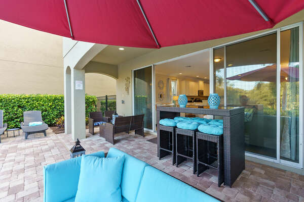 A pool alarm and sliding glass doors will put your mind at ease for the safety of little ones